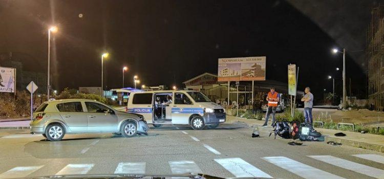 FOTO Teška prometna nesreća; Sudarili se automobili i motocikl