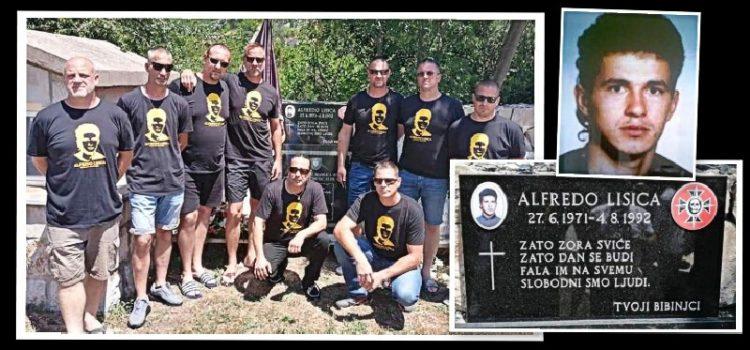 Bibinjci postavili spomen ploču na mjestu pogibije heroja Alfreda Lisice