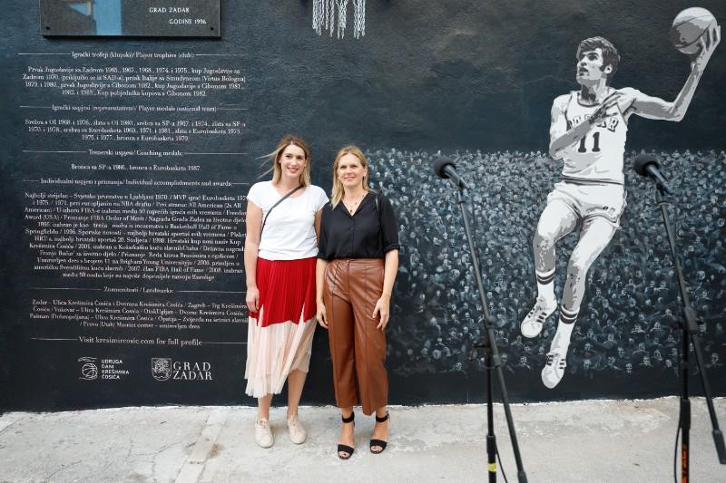Ana Cosic, Dina Busic - procelnica za sport i kulturu Zadra_copy_800x533
