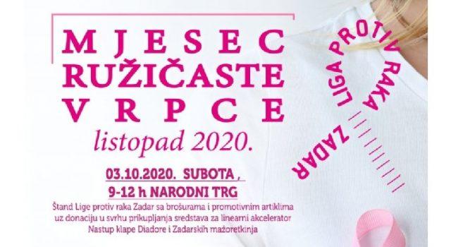 """Mjesec ružičaste vrpce"" – projekt zadarske Lige protiv raka za listopad"