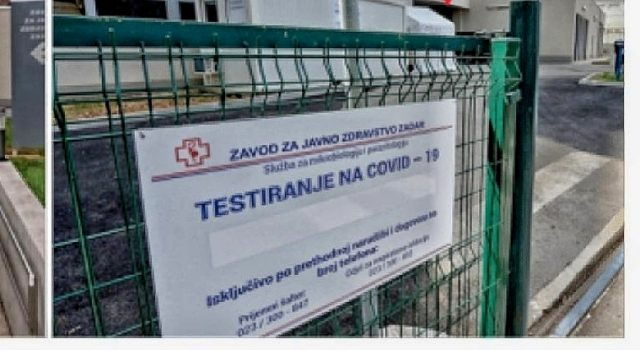 Zadrani se ponovo mogu testirati na Covid 19 – slobodan termin već sutra!