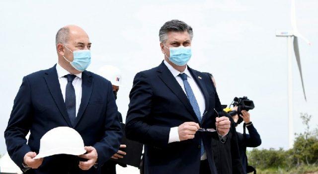 Plenković svečano pustio u rad Vjetrolektranu Korlat kod Benkovca