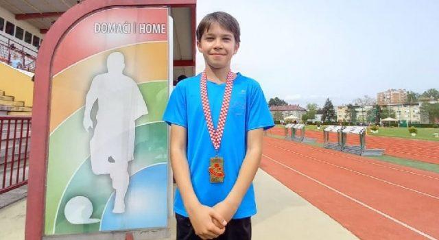 Atletičar Dorijan Jurešić osvojio brončano odličje na Prvenstvu RH u višeboju