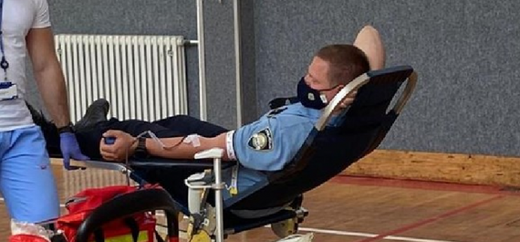Zadarski policajci darovali krv u akciji dobrovoljnog darivanja