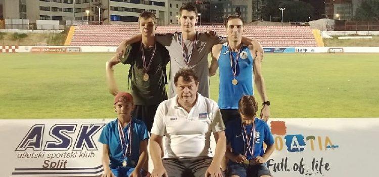 Atletičari atletskog kluba Alojzije Stepinac Zadar odvojili devet odličja