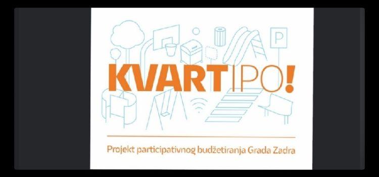 Grad Zadar poziva građane u kreiranje proračuna: uključite se u projekt 'KVARTipo!' i sami izaberite male investicije u vašem kvartu
