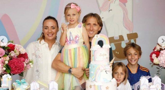 Radost u obitelji: Luka Modrić proslavio 4. rođendan malene Sofije